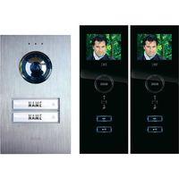 Domofon m-e modern-electronics, Kompletny zestaw, Interkom drzwiowy, Dom dwurodzinny