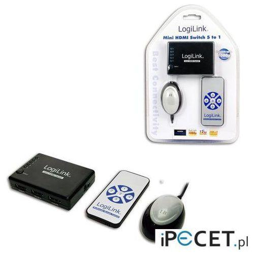 Switch HDMI LogiLink HD0004 5 portów HDMI, wzmacniacz