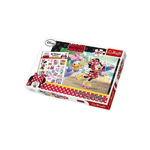 Trefl Puzzle 160 minnie i daisy na wrotkach + 20 tatuaży 90504 (5900511905045)