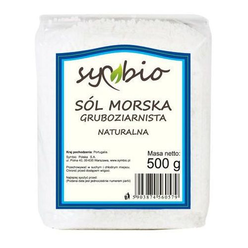 SÓL MORSKA GRUBOZIARNISTA 500G - SYMBIO