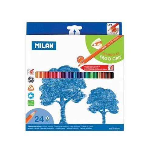 Kredki ołówkowe trójkątne 24 kolory (8411574023814)