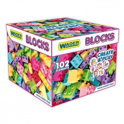 Wader Klocki Blocks Create & Play Pink 41293