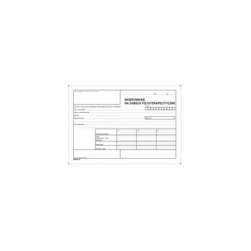 Skierowanie za zabiegi fizjoterapeutyczne [Mz/Nfz-8], 47528