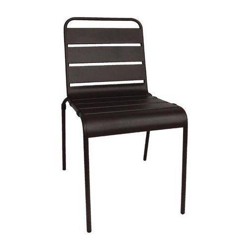 Bolero Krzesło stalowe czarne | 4 szt. | 47x57x(h)83cm