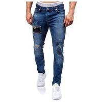 Granatowe spodnie jeansowe męskie denley 302, Otantik