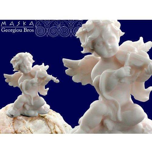 > Aniołek grający na skrzypcach -alabaster grecki