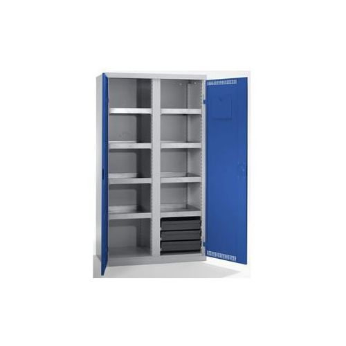 Szafa ekologiczna, drzwi perforowane, wys. x szer. x głęb. 1800x1000x500 mm, 7 p marki Stumpf-metall