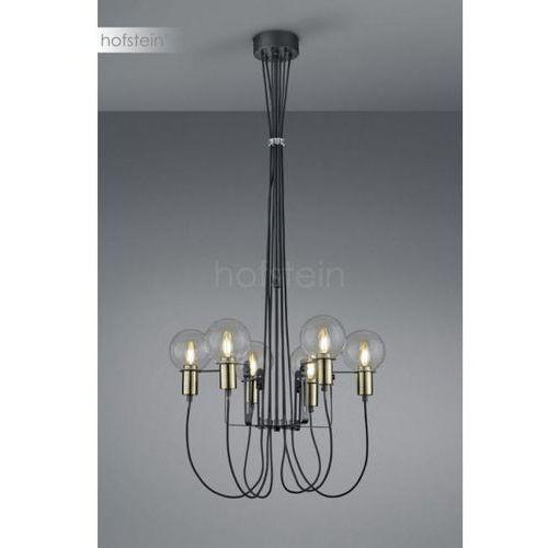 Trio Lampa wisząca nacho 100800632 metalowa oprawa szklane kule balls czarna przezroczysta