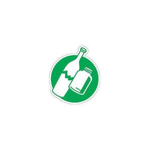 Piktogram na kosz do segregacji zielony- szkło