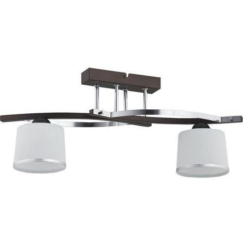 Plafon lampa sufitowa Lemir Astred 2x60W E27 chrom/rdza/wenge O2282 W2 RW (5902082863045)