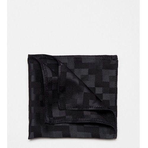 pocket square in satin - black marki Heart & dagger