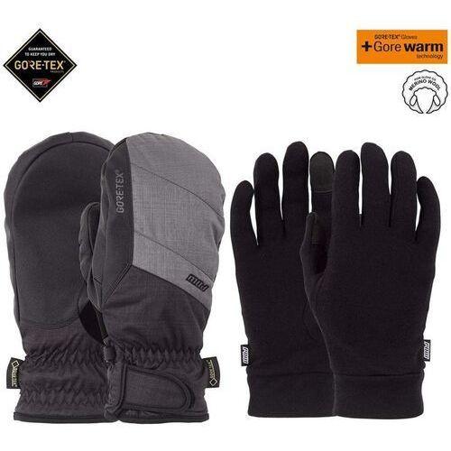 Pow - warner gtx short mitt + warm charcoal (ch) rozmiar: l