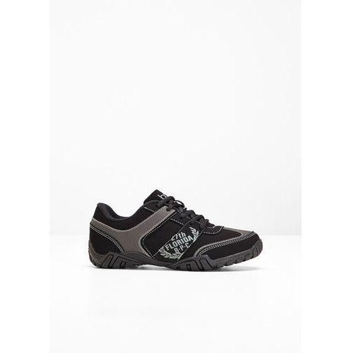 Buty sznurowane bonprix czarny, w 7 rozmiarach
