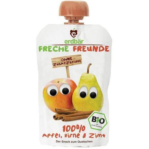 208erdbar Mus do wyciskania jabłko-gruszka i cynamon 100g eko erdbar dla dzieci