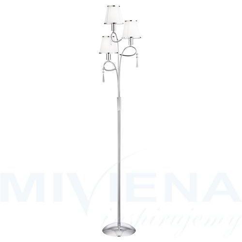 Simplicity lampa podłogowa 3 chrom kryształ abażur, kolor chrom,