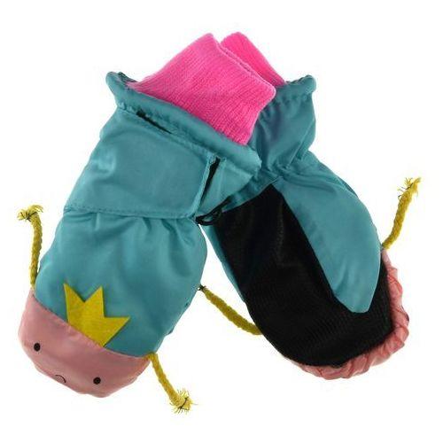 Scorpio Dziecięce rękawiczki narciarskie - różowy ||miętowy