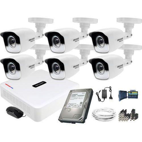 Hikvision hiwatch Zm12765 zestaw 6 kamer hd monitoringu rejestrator 8kan