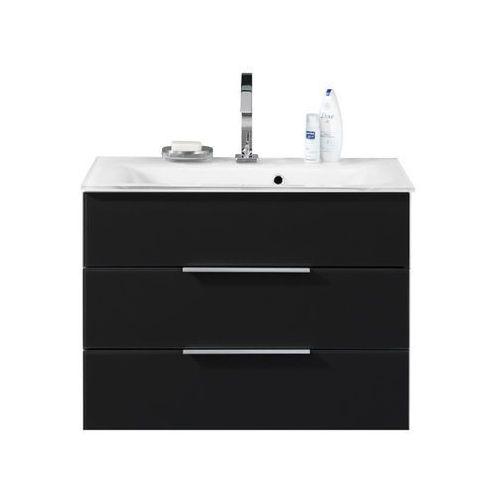 Szafka łazienkowa ze szklaną umywalką i podświetleniem kara 80 cm marki Fackelmann