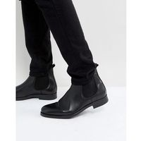 oliver leather chelsea boots in black - black marki Selected homme