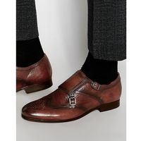 castleton leather monk shoes - brown marki H by hudson