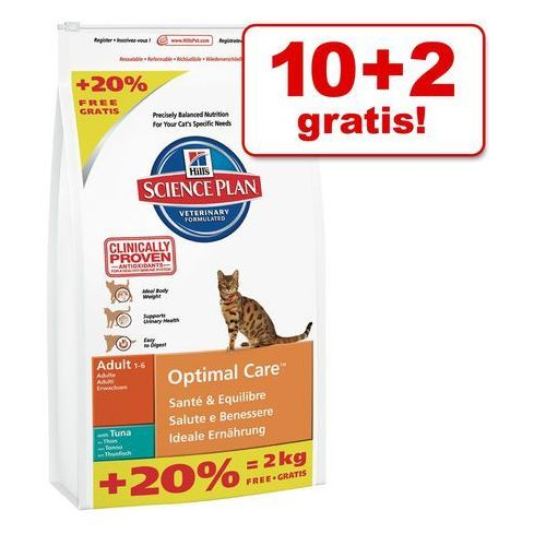 10 + 2 kg gratis! hill's feline sucha karma, 12 kg - adult light, kurczak marki Hills
