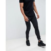 muscle fit cropped jeans in black - black marki Hoxton denim