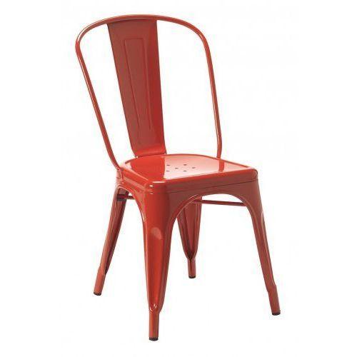 King home Krzesło metalowe tower czerwone- metal (5900168810136)