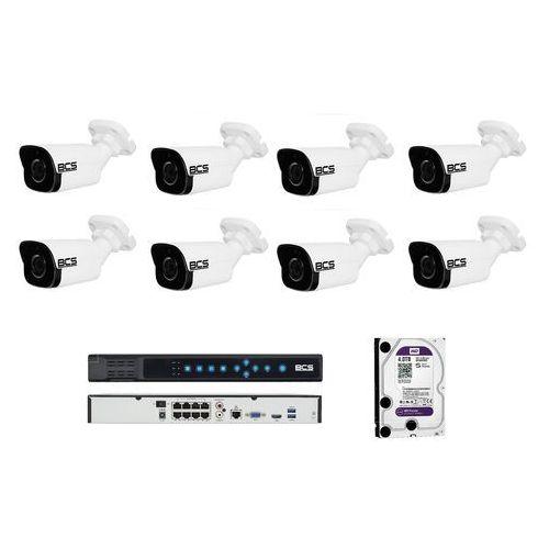 Bcs -p-4121r zestaw bcs point 8 kamer 2 mpx 4tb hdd rejestrator poe. idealny do obserwacji, sklepu,domu i firmy.