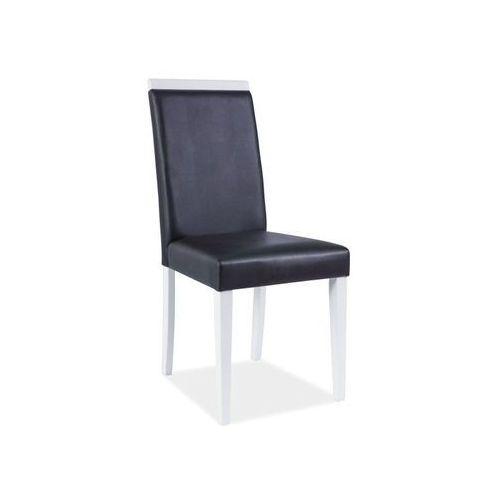 Nowoczesne krzesło CD-77 black/white, CD-77 BK/WH