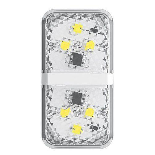 zestaw 2x ostrzegawcza lampka led do drzwi samochodu biały (crfzd-02) - biały marki Baseus