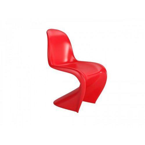 Krzesło Balance inspirowane Panton Chair - czerwony, kolor czerwony