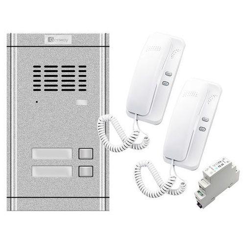 Zestaw domofonowy 2 rodzinny wl-02ne-2 marki Genway