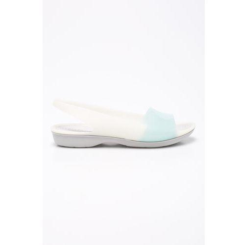 - sandały color block, Crocs