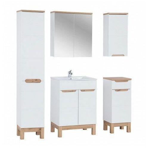 Zestaw mebli łazienkowych z koszem Marsylia 3Q 60 cm - Biały połysk, BALI-SET-60-cm
