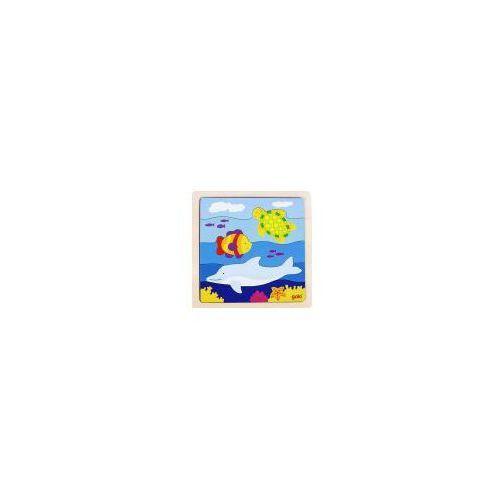 Drewniane puzzle Podwodny świat, Goki 57526 (4013594575263)