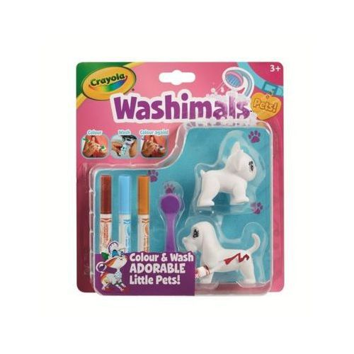 Figurki do malowania washimals blister pack - pieski marki Crayola