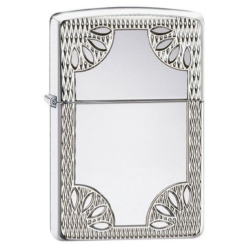 Zapalniczka Zippo Carved Border Armor, High Polish Chrome