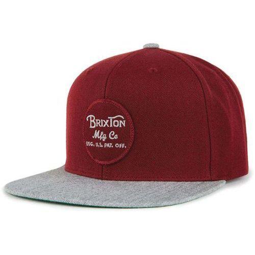 Brixton Czapka z daszkiem - wheeler snapback burgundy/burgundy/heather grey (bubgy)