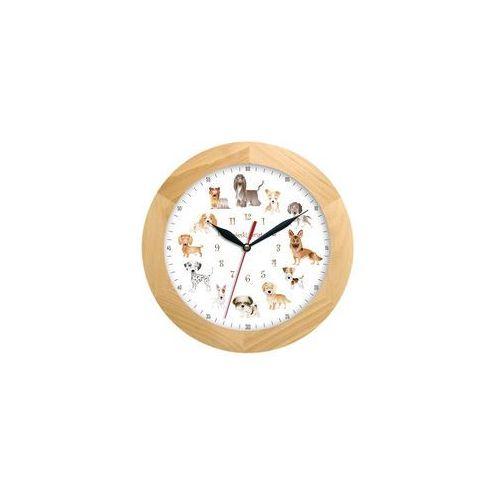 Zegar drewniany solid pieski świat #1 marki Atrix