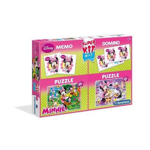 Puzzle 2 x 30 el. + memo + domino minnie marki Clementoni