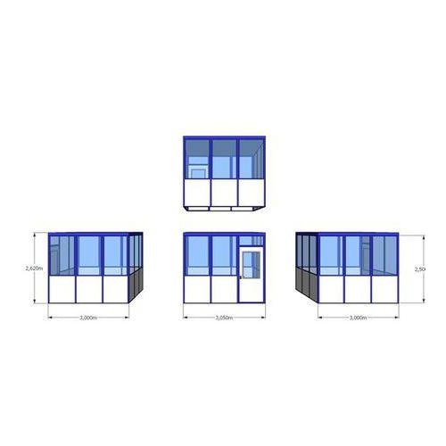 Bkm metallbau Budynek uniwersalny, wypełnienia z narożnikami, do wewnątrz, dł. x szer. 3050x30
