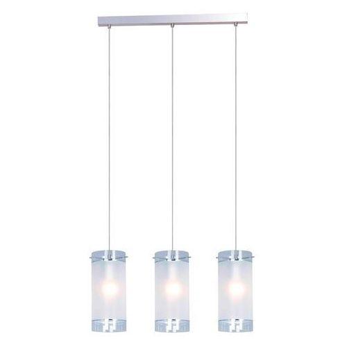 LAMPA wisząca VIGO MDM1560/3 Italux zwis OPRAWA listwa sufitowa TUBY chrom białe, kolor Biały