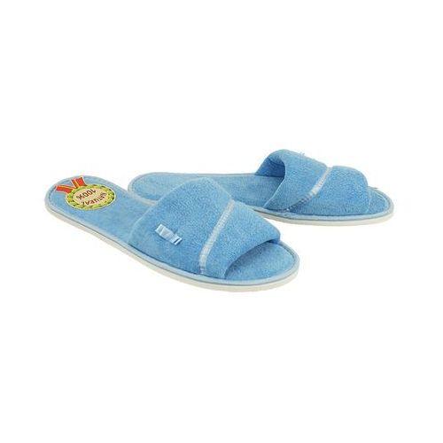 METEOR 041 IZABELA jasnoniebieski, kapcie damskie - Niebieski, kolor niebieski