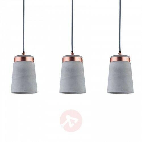 3-punktowa lampa Stig z betonowymi kloszami