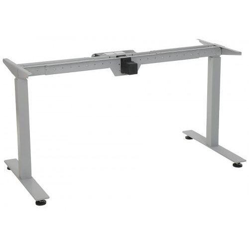 Stelaż metalowy biurka (stołu) z elektryczną regulacją wysokości, STE-01T, kolor aluminium, STE-01T ALU