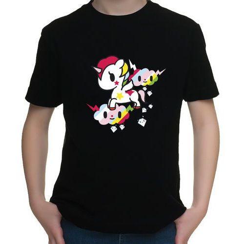 Koszulka dziecięca Sweet Unicorn, kolor czarny