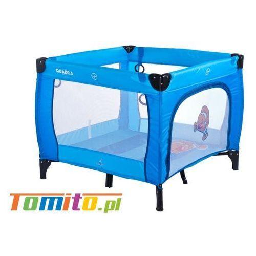 Łóżeczko Kojec dla dziecka Quadra Caretero Blue