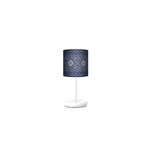 Lampy Lampa stojąca eko - niebieska dzianina
