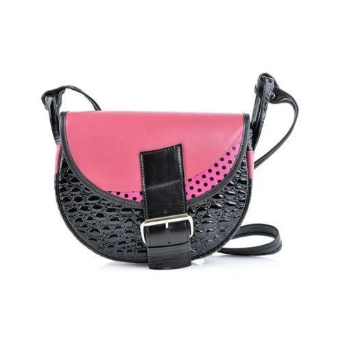 Freshman mini torebka różowo-czarna marki Słoń torbalski