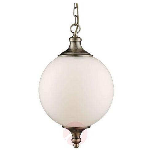 Searchlight Okrągła lampa wisząca whisko, postarzany mosiądz (5053423039138)
